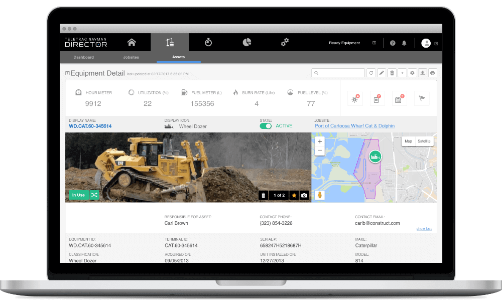 Construction Site Software by Teletrac Navman